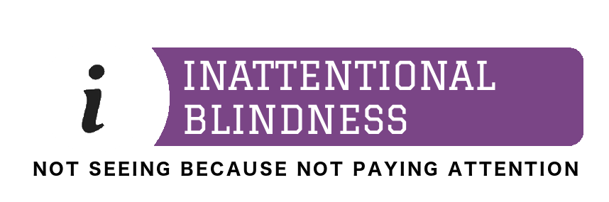 Inattentional Blindness is Not Seeing Because You're Not Paying Attention